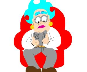 man reading gray book