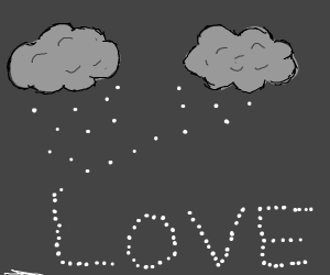 snowflake spells out love