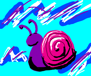 synthwave snail