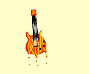 guitar made of lava