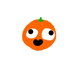 a happy orange