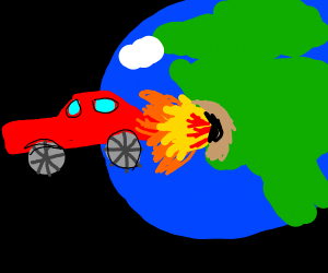 Truck destroying the Earth once again
