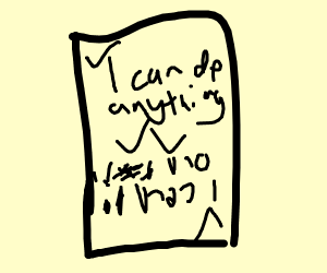 I can do anything card