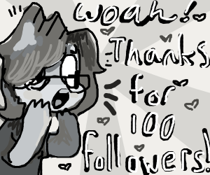 Thanks for 100 followers! :o