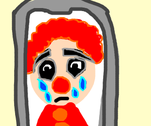 Sad Clown selfie