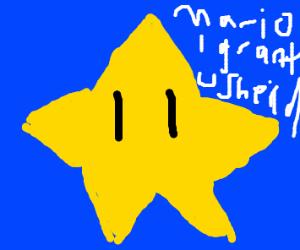 Super star (Mario Bro., grants immunity)