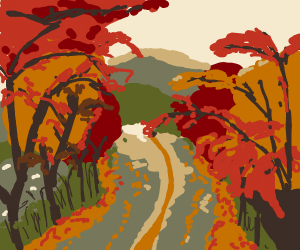 An autumn road