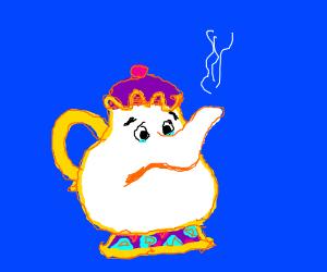 tea pot is sad
