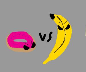 doughnut vs banana