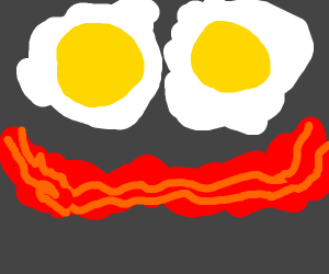 bacon and eggs smiley face