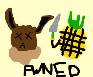 Eevee gets pwned by pineapple
