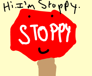 stoppy the stop sign