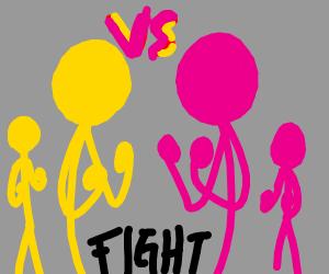 Yellow VS Pink Peeps