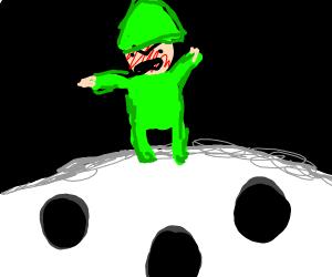 annoyed elf on the moon