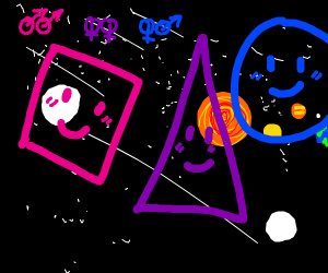 Bisexual Shapes in Space