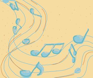 music notes/ score