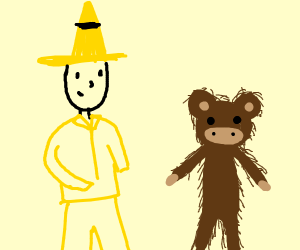the man in the yellow hat and hairy george