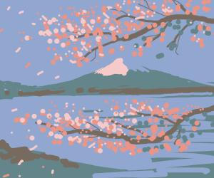 cherry blossom landscape