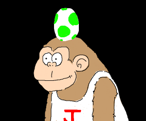 Yoshi egg on top of Donkey kong Jr