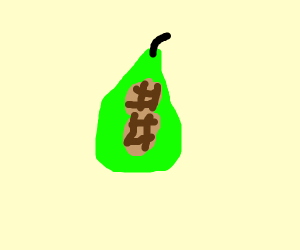 A pear of nuts