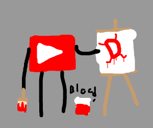 Youtube painting Drawception with blood