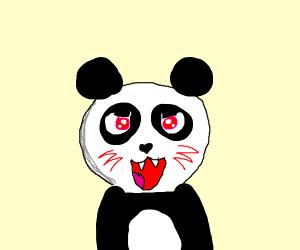 Demonic panda but cute