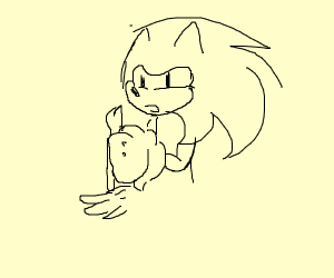 Sonic carrying Celery
