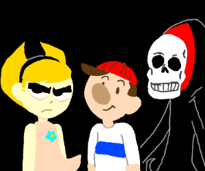 Billy and Mandy with Grim