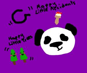 bob ross panda