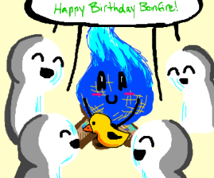 birthday blue bonfire