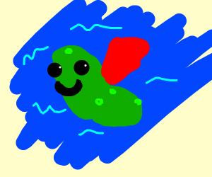 Superhero slug in the water