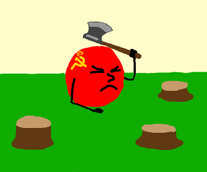 Soviet russia becomes a lumberjack