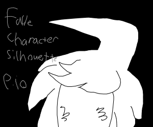 Silhouette of fave character pio
