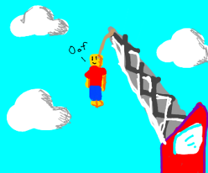Roblox man on crane
