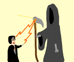 Harry Potter VS Death is an unequal fight