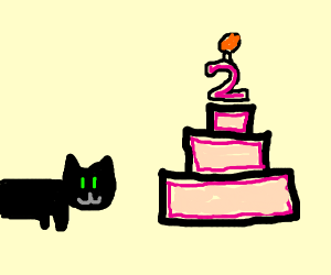 Kitty cat's birthday cake