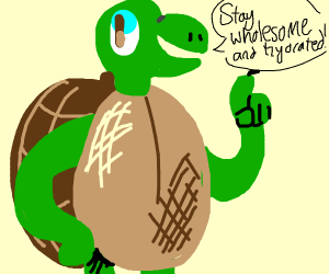 Stay Wholesome and Hydrated! Turtle says so!