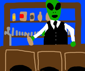 Alien behind bar