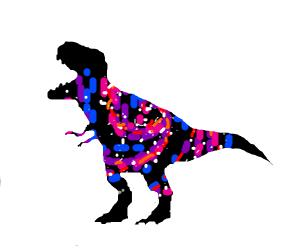 galaxy in a dinosaur