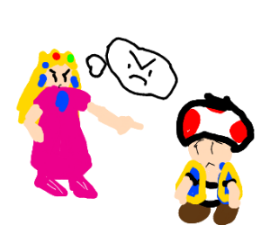 princess peach insulting toad