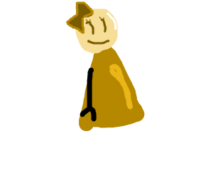 a shiny/pale cartoon girl with no legs.
