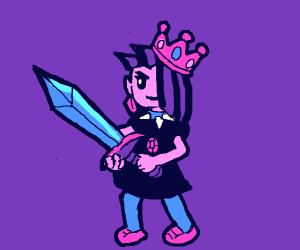 Punk princess with sword