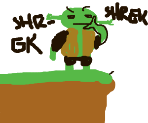 Shrek reconsiders life for a brief moment