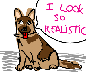 Realistic German shepherd