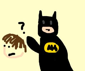batman lost something in guy's hair