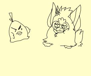 angry bird and his big chonky brother
