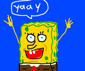 Happy spungebob