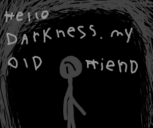 alone in the darkness