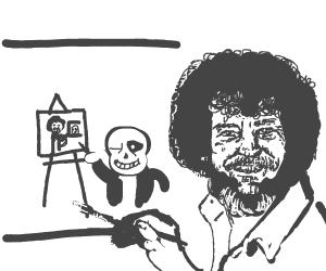 Bob Ross painting sans painting bob ross
