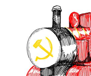 communist thomas the tank engine